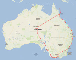The route round Oz